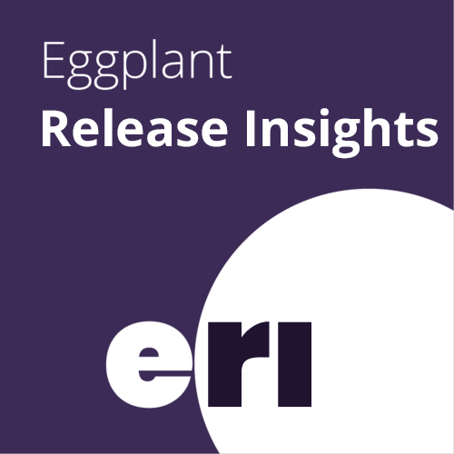 Eggplant Release Insights - Part of the Digital Automation Intelligence Suite, Eggplant Release Insights works with Eggplant AI, and pulls data from the rest of your CI/CD pipeline, to provide analytics and insight into user- and business-focused metrics that gauge release quality and its impact on the user or consumer.