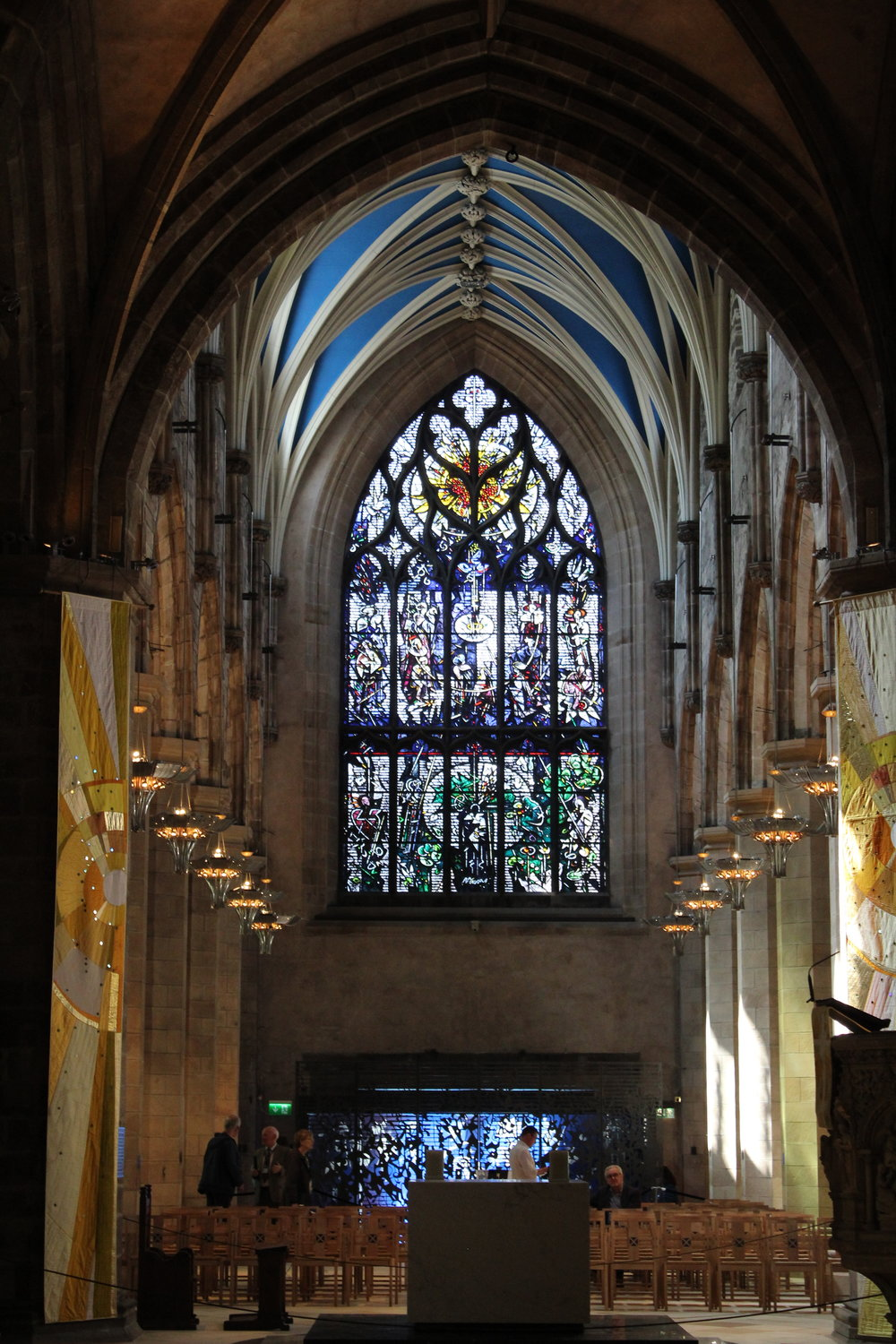 The interior of St. Giles