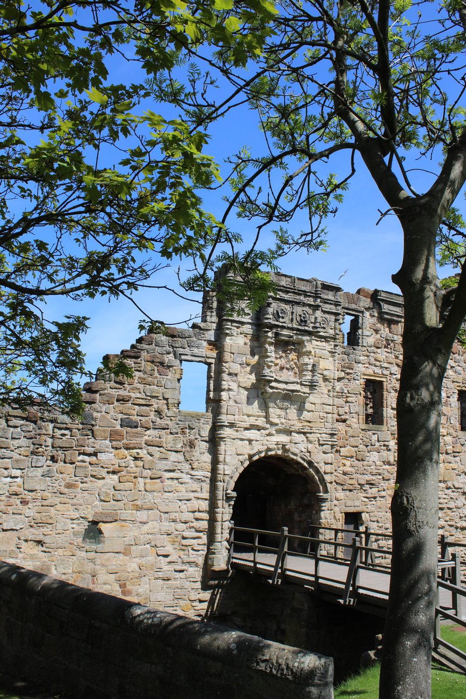 the Castle entrance.