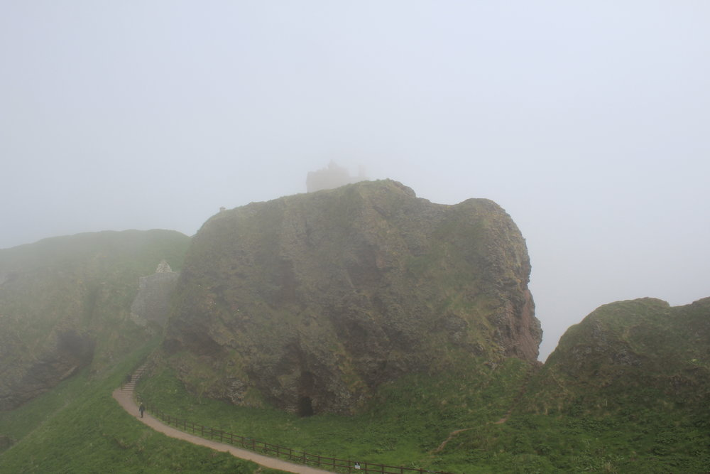 Dunnottar Castle in the mist.
