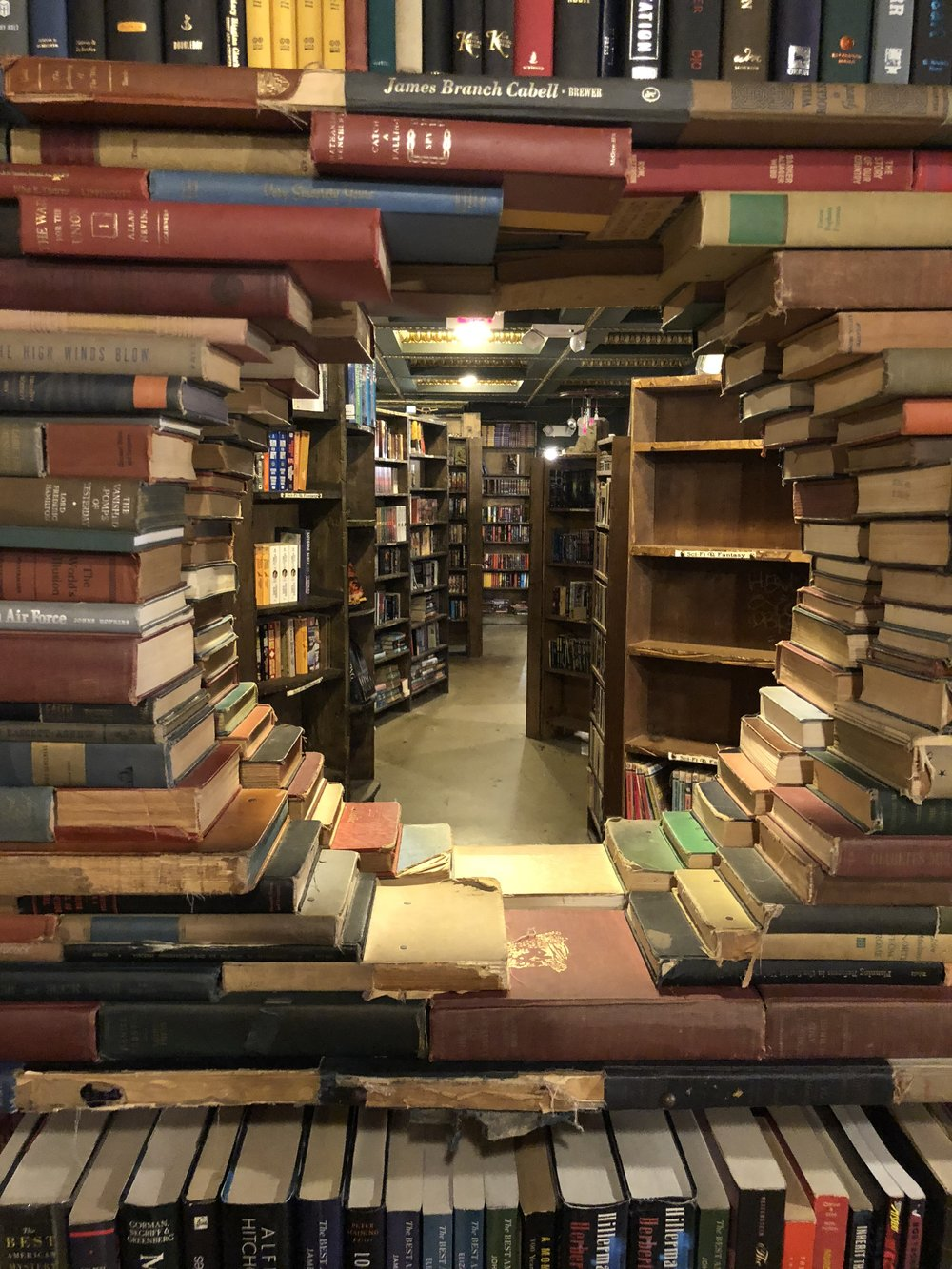 A book sculpture in The Last Bookstore, Los Angeles