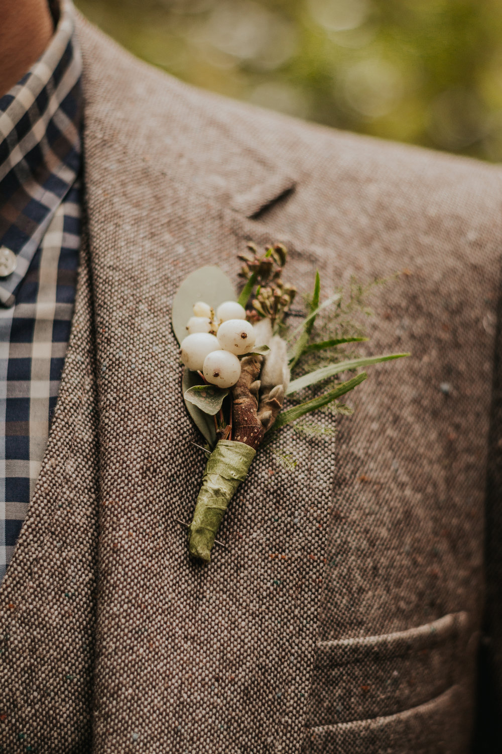 Oregon Forest Elopement Boutonniere