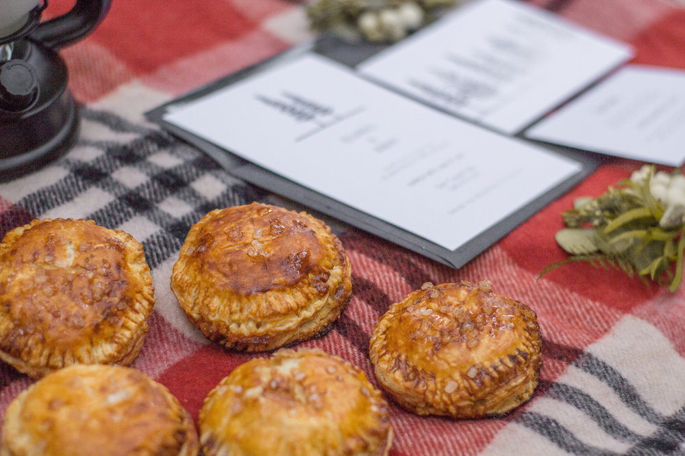 Oregon Forest Elopement Hand Pies and Stationery