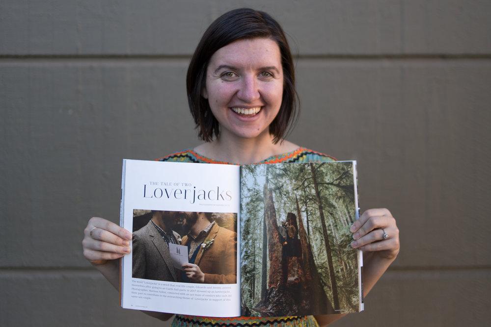 Marissa Solini Holding Wedventure Mag