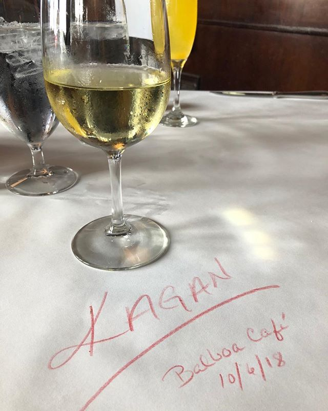 Another fantastic Napa trip ends at the Balboa Café! It was a great harvest! Stay in touch with us to learn more about winemaking and the Kagan 2018 vintages coming!
