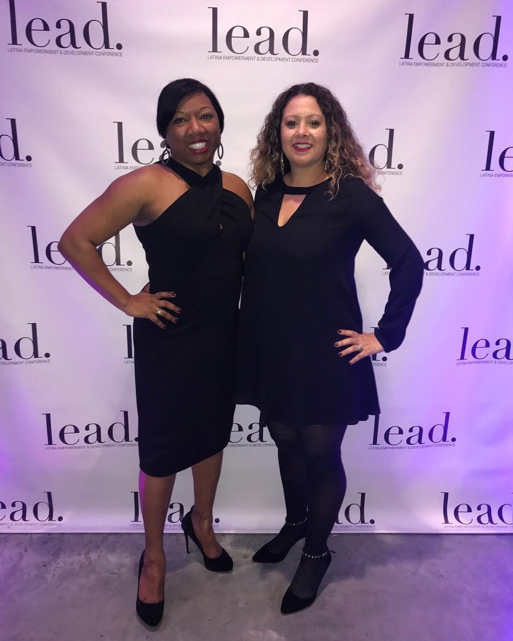 Melissa and I at the Harvard Latina's LEAD conference. February, 2018