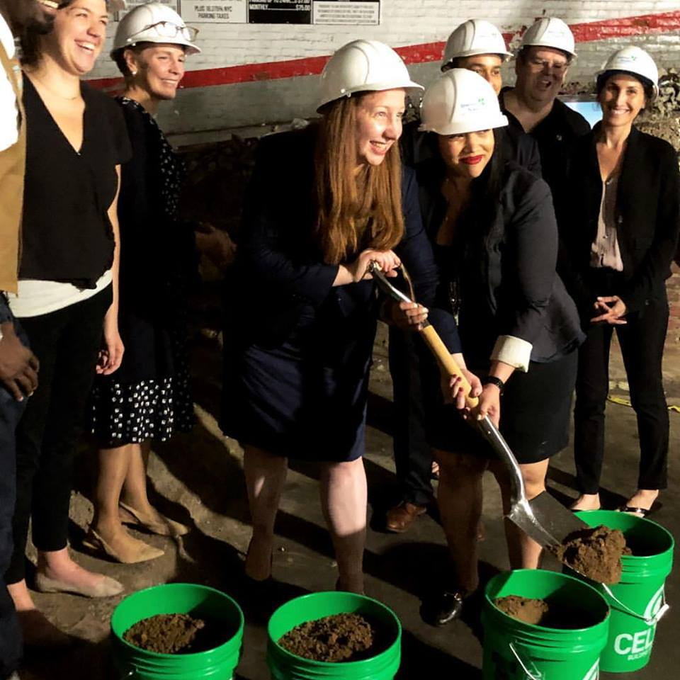 Breaking ground for new Charter School she helped secure funding for. -