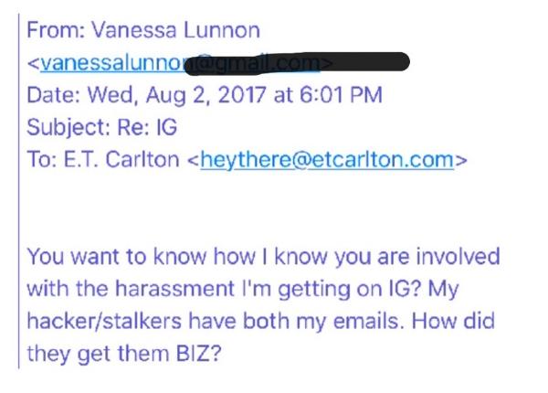 Vanessa Lunnon Accusation