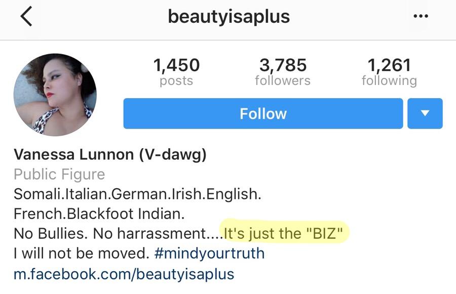 Vanessa Lunnon (aka Beautyisaplus) on Instagram