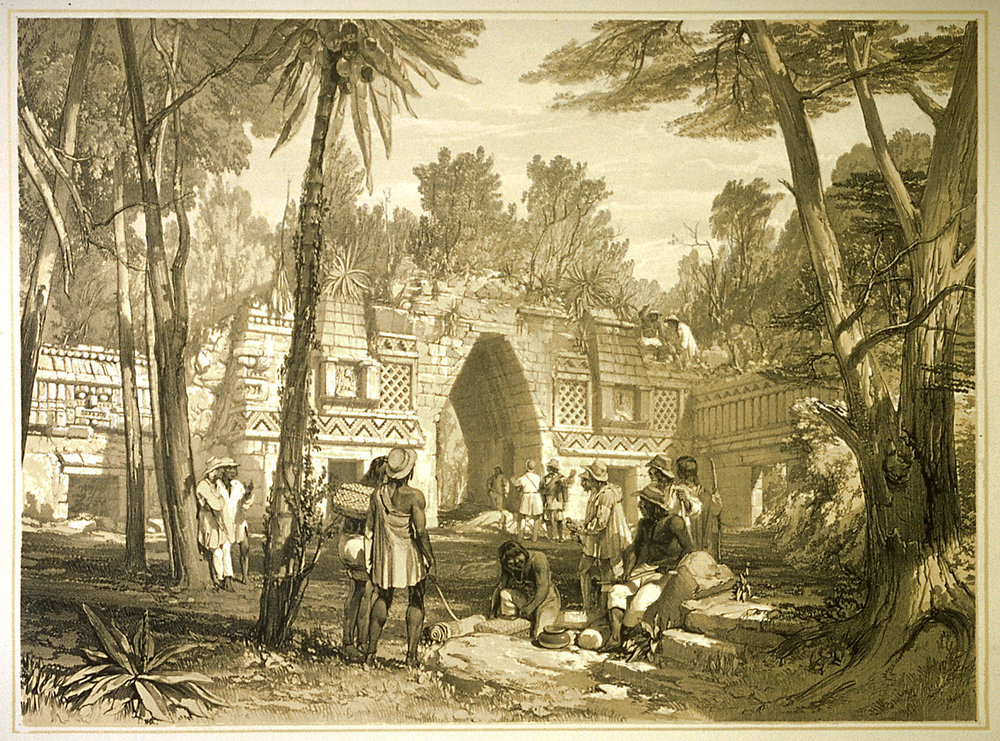 Arch of Labna, from Views of Ancient Monuments in Central America, Chiapas and Yucatan 1844