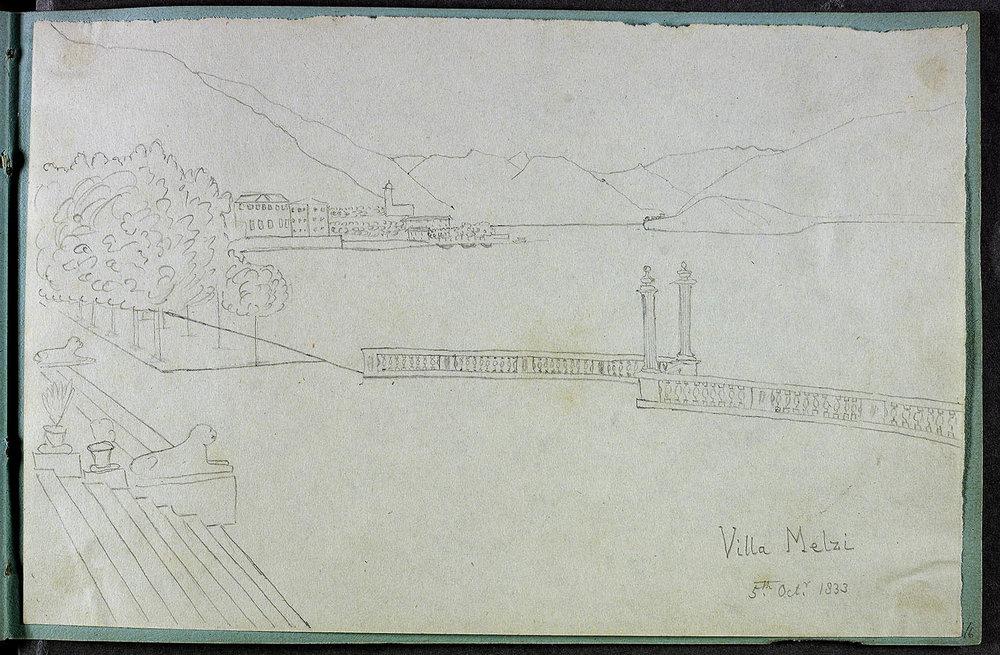 HenryFoxTalbot_boat landing for Villa Melzi 5 Otober 1833.jpg