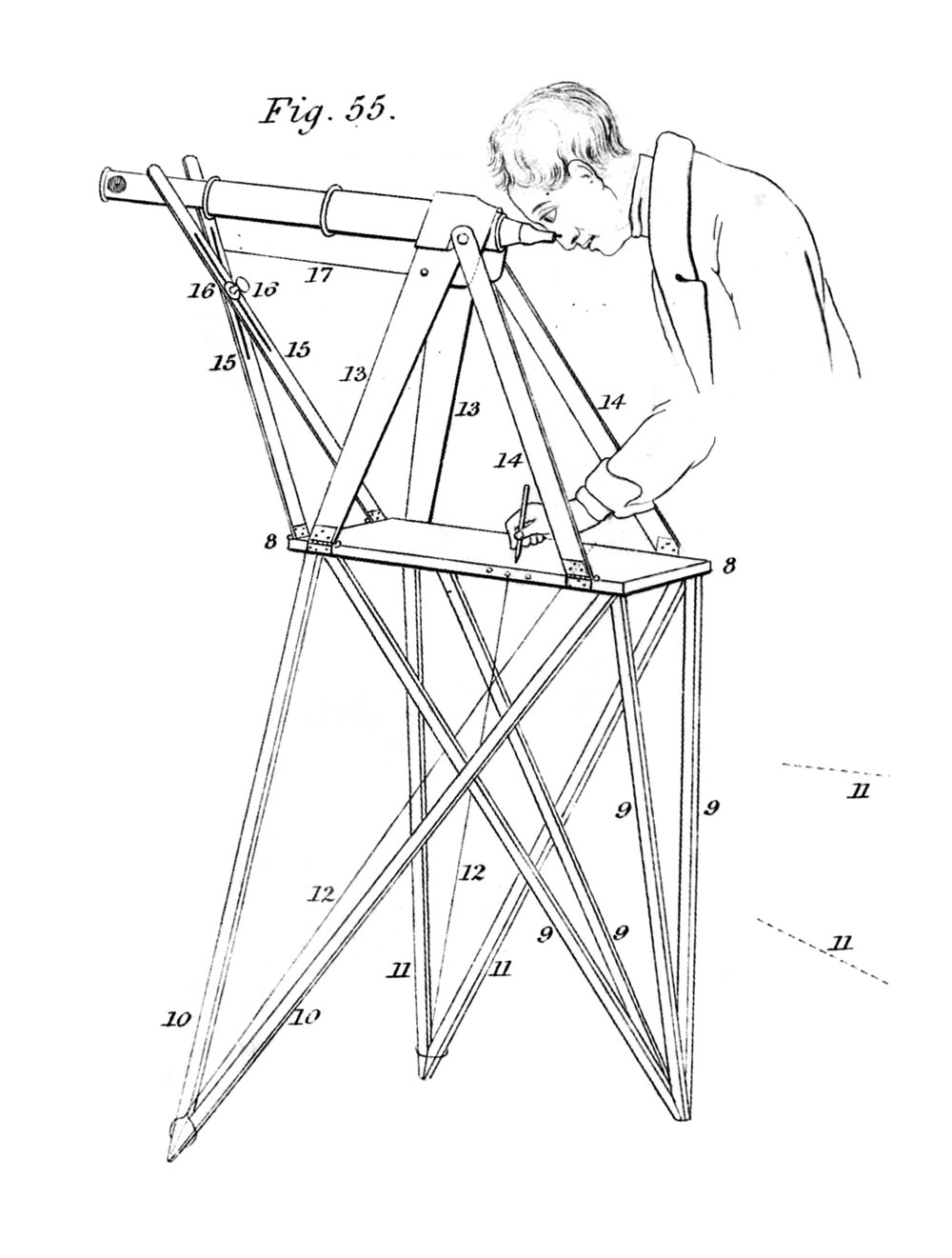 Cornelius Varley's Patent Graphic Telescope, with custom stabilizing table (1836)