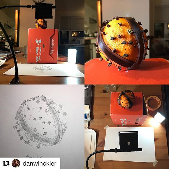 #Repost @danwinckler (@get_repost) ・・・ Pomander sketch with the NeoLucida XL. The lights are the very nifty and bright Amaran M9 from @aputuretech, which are perfect for this.