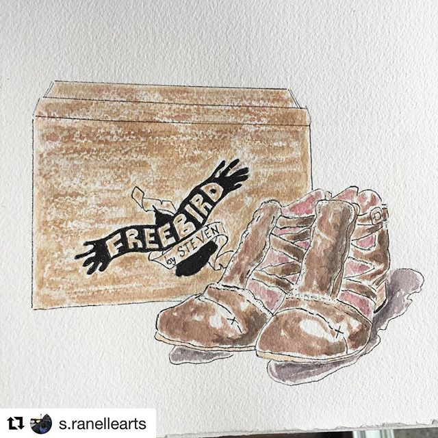#Repost @s.ranellearts (@get_repost) ・・・ New Shoes! Day 10. Used my Neo Lucida camera. Check out my unboxing and review on my YouTube channel s.ranellearts  #worldwatercolorgroup #art #artistoninstagram #watercolorpainting #watercolor #aquarellepainting #winsorandnewton #newshoes #neolucida