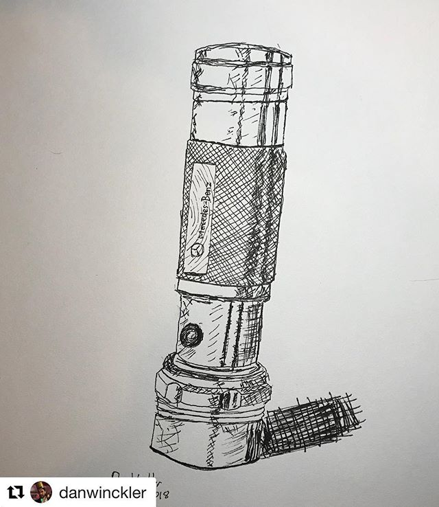 #Repost @danwinckler (@get_repost) ・・・ Flashlight. Trying out some new Sakura pens, on top of a few pencil marks. #NeoLucidaXL #NeoLucida #drawing #everyday
