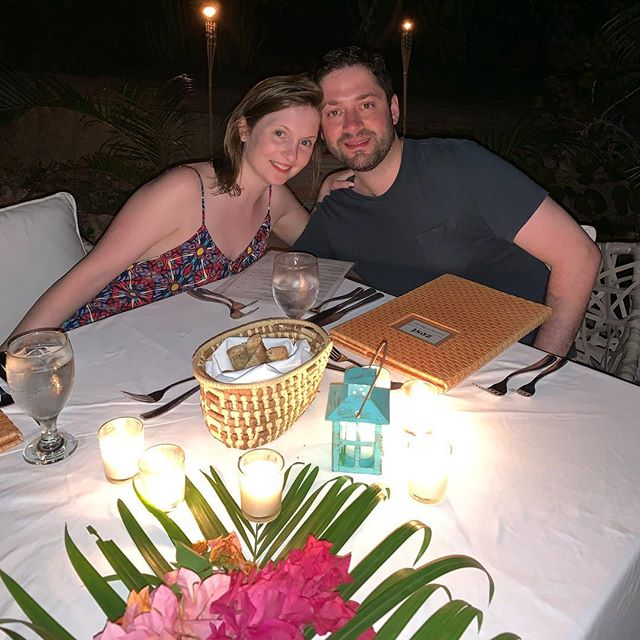 Our honeymoon dinner at @thecliffjamaica 💕💕💕