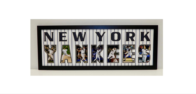 NY Yankees Letter Collage — Tivoli Sports Memorabilia