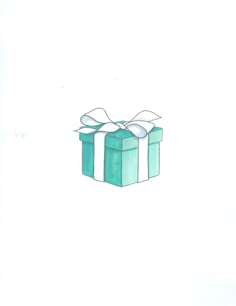 Tiffany's blue box illustration