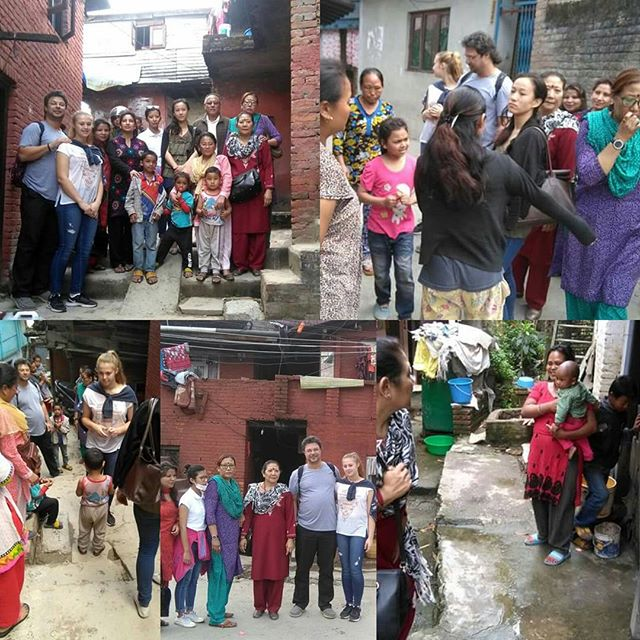 #One of our well-wisher Mr. Hassan from Dubai, his daughter Amani and our team from EDUC-Nepal visited children's place (where they live) in Sukumbasi area (squatter's area). It was nice meeting our children playing and having fun in their homes though we weren't able to visit all the children as some had gone with their mum to her workplace. It was a surprise visit and Amani distributed lollipops to the children. Thank you Hassan for the lovely time we had. I hope you got the insight of how our children live in the squatter's area.