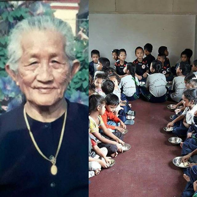 "#Today ""Momo Day"" for our children. In honour of  mother, late Challi Maya Gurung, mother of Mr. Pahal Singh Gurung and family, brother's Dammar Singh Gurung and family, Komal Singh Gurung and family, Buddha Singh Gurung and family and Sisters She passed away on the 5th of June 2016 (Ashad 1st 2074). The children for the first time had 'MOMO' at our center and they loved it. Thank you Gurung family who are also board members of EDUC-Nepal for the lovely delicious momo for our children. May her soul rest in peace."