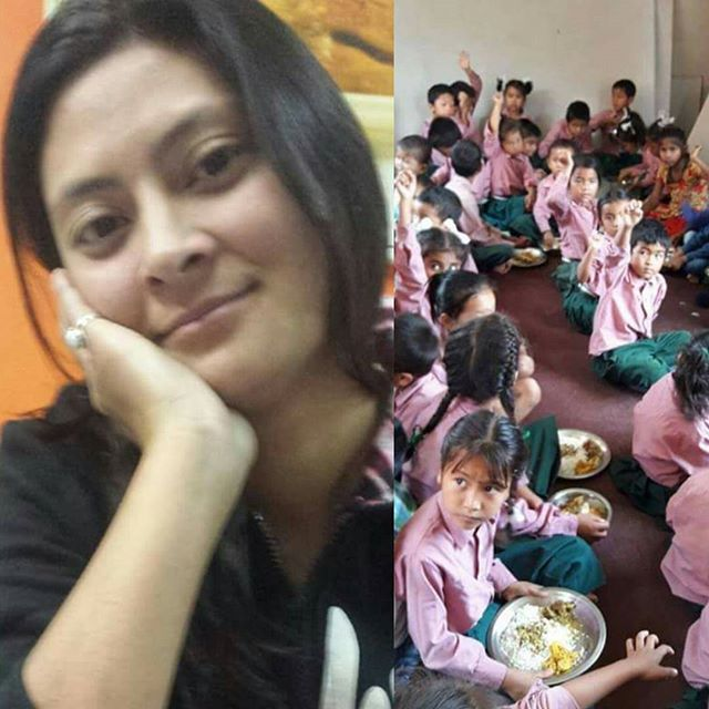 "#In honour of her late sister, Maiya Shrestha who passed away 13th days ago, provided lunch for the children of EDUC-Nepal. The 13th day known as "" Antyesti Kriya or Antim Samskara' is a priod of deep mourning involving specific actions which is viewed as a final act of assistance the living can give to departed family members. Thank you Ms. Sita Bohara for the nice lunch treat to our children. May your Sister's soul rest in peace. Late Maiya Shrestha was our hardworking facilitator in our organization who worked with us for a year. ""Traditions vary, but there are often said to be 16 rites of passage. The first are conducted before birth; the last involves a series of rituals after the soul has left the body to help it complete its transformation from a preta, or disconnected spirit, into a pitri, or honored ancestor."""