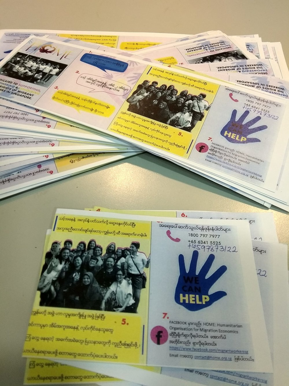 Outreach materials in Burmese
