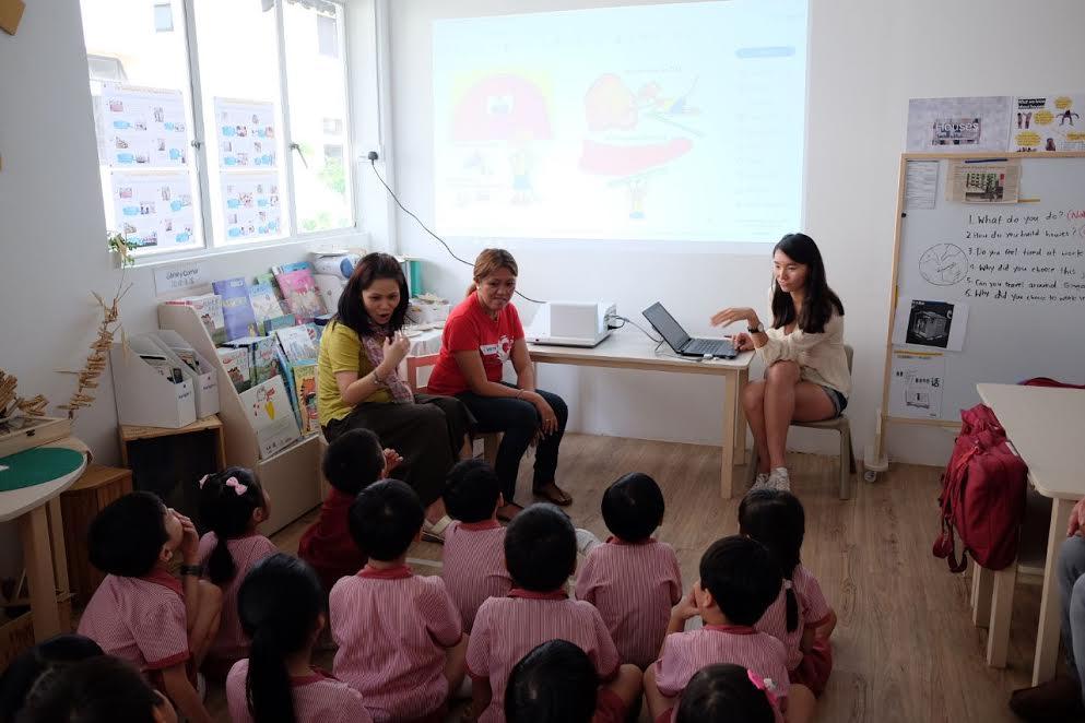 Our first school talk at a kindergarten!