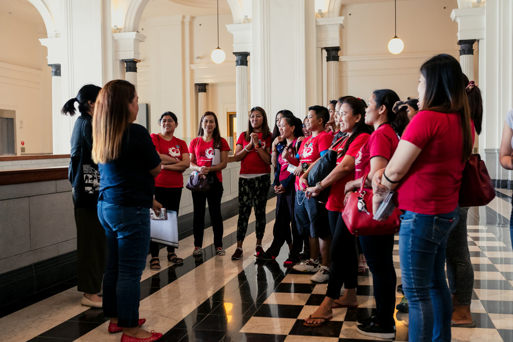 Our domestic worker leaders had the opportunity to lead tours at the National Gallery