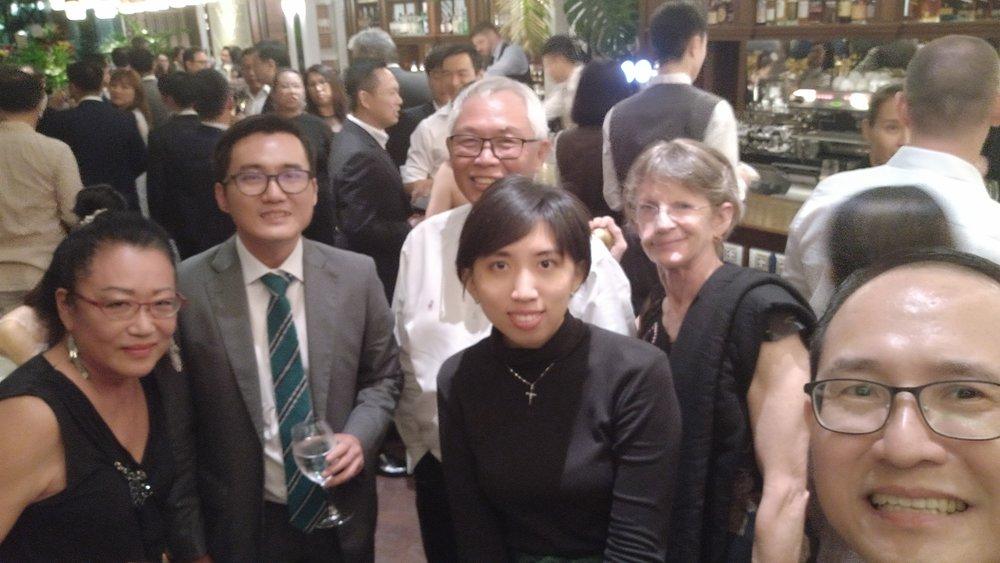 HOME staff members attending TSMP's dinner
