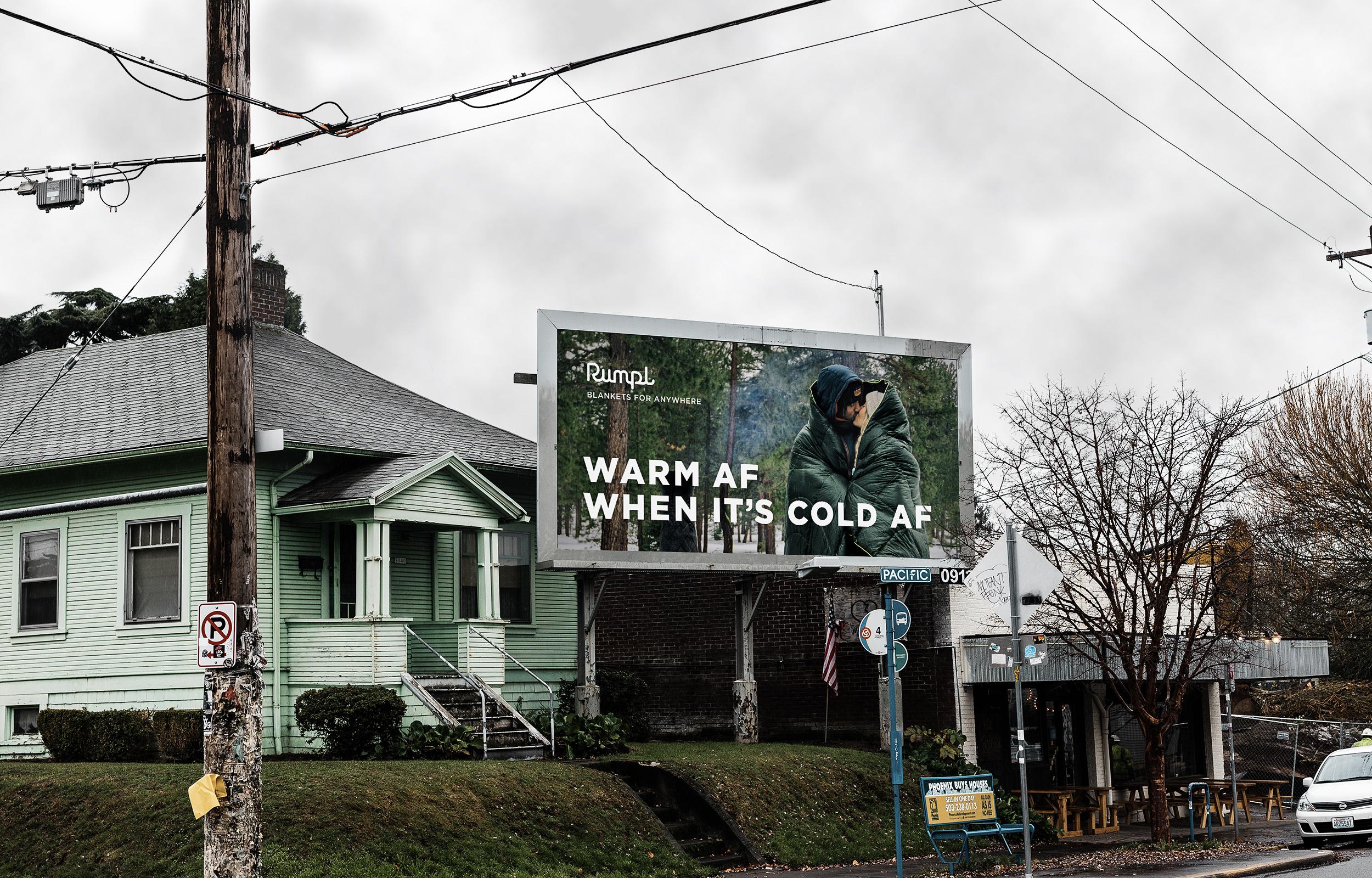 Rumpl Warm AF Billboard