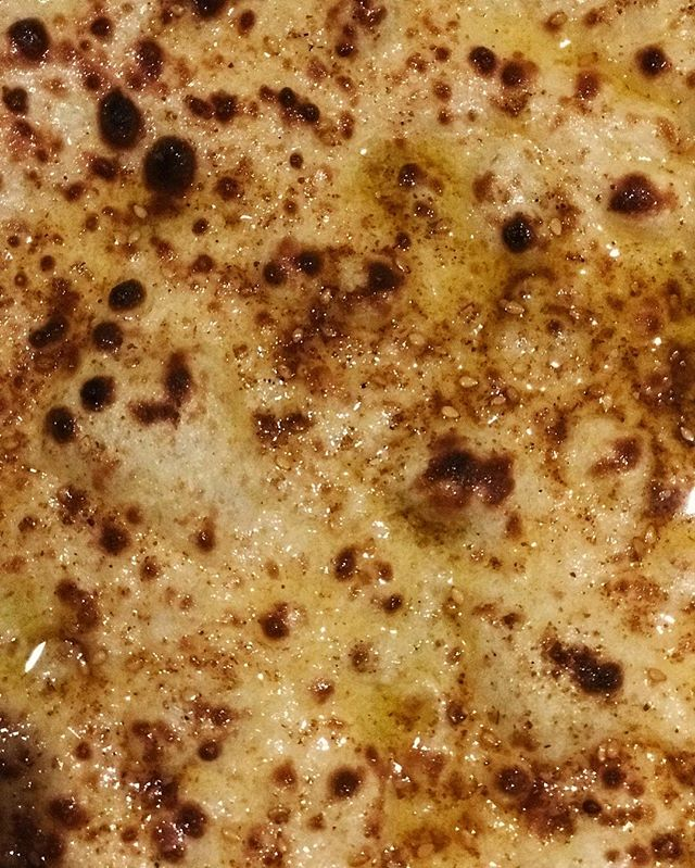 When the #Laffa Bread bathes in olive oil and showers in #dukkah spices ....….............. You know everything will be alright! ……................ #shukones #badjew #whattheshuk