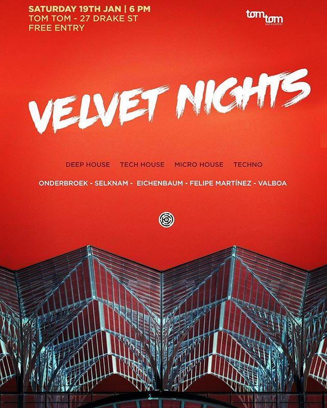 Saturday 19th of Jan... get deep into the velvet night!!! @tomtombareatery  #deephouse  #microhouse  #minimal #deep #tech  #progressivehouse  #techno