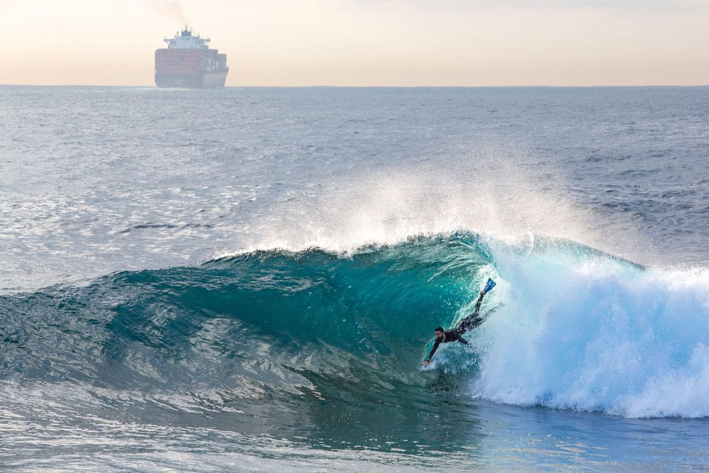 Bodysurfer: Rikki Gilbey  Photo: Ian MacDonald