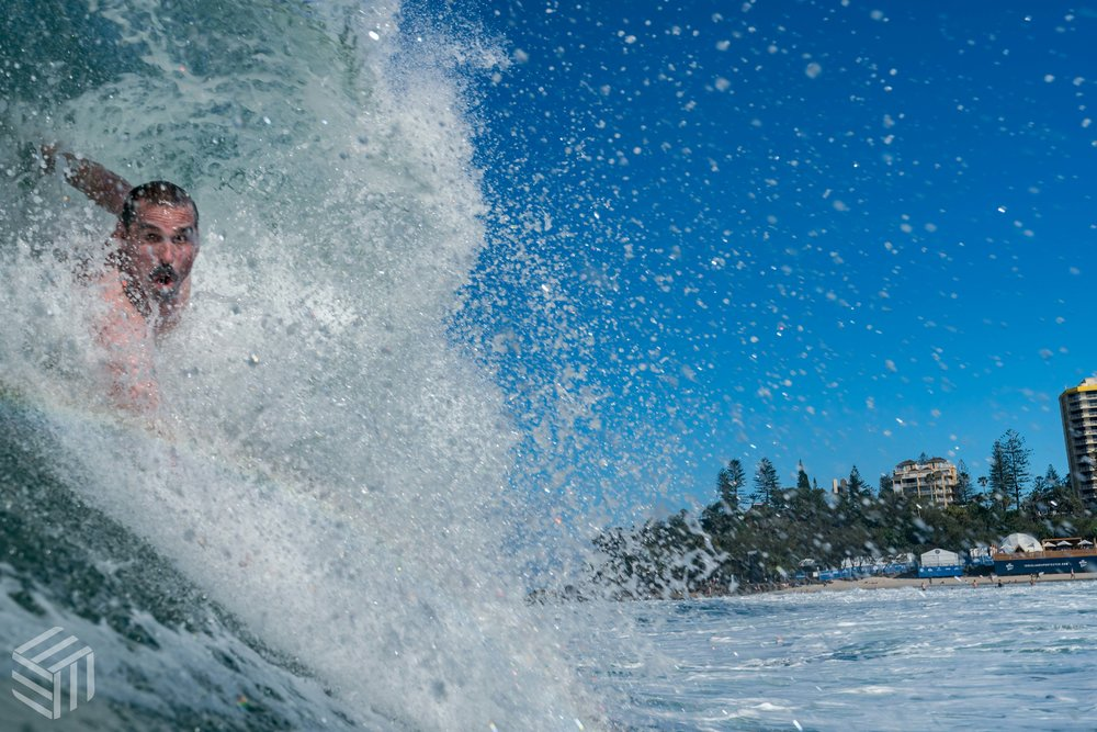 Dave Ford in the spot. Snapper Rocks  Photographer - Elliot Kirkwood Photography