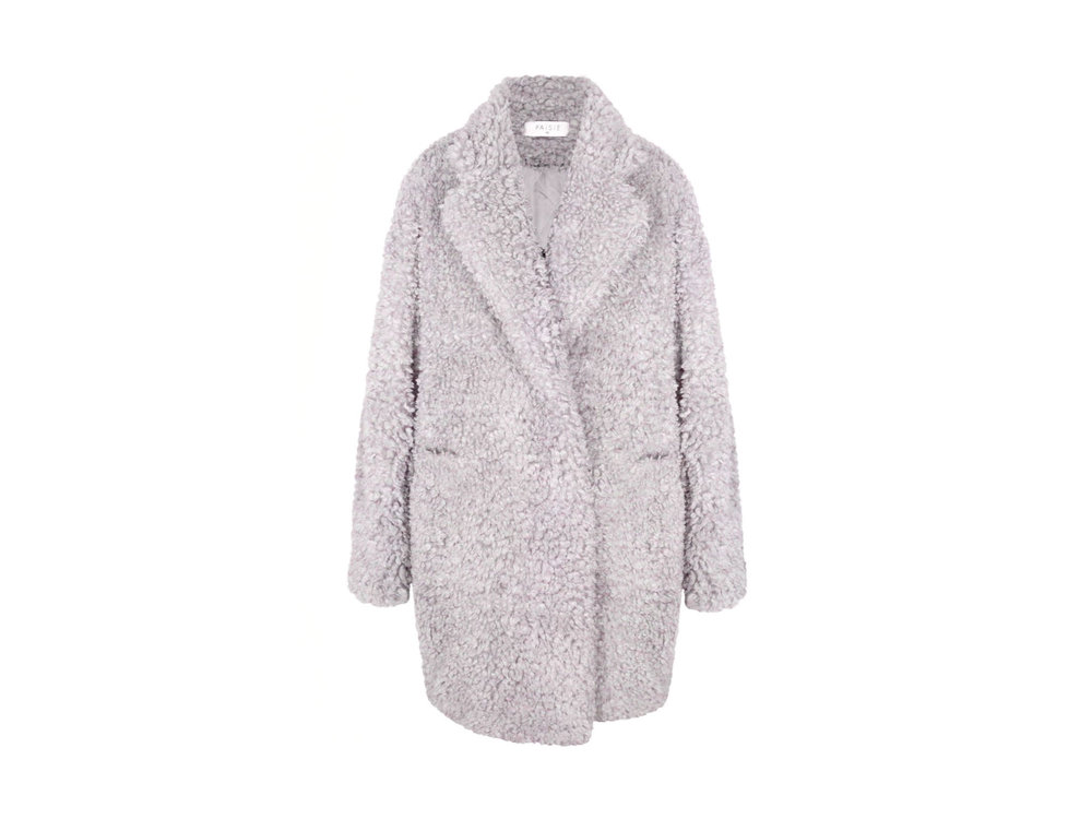 Teddy Bear Coat in Lilac by PAISIE