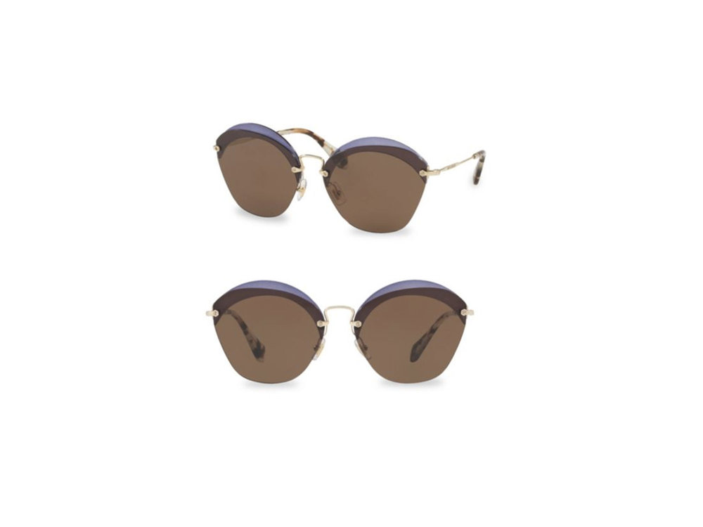 63MM Cutout Sunglasses by Miu Miu