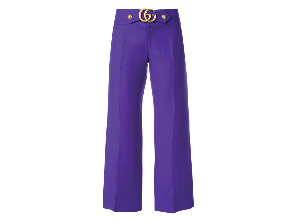 Silk-Blend Classic Trousers by Gucci