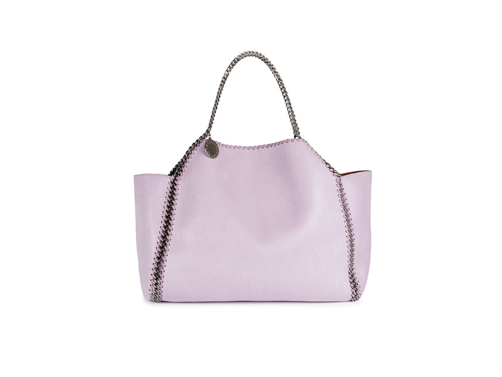 Falabella reversible tote in lilac and tan by Stella McCartney
