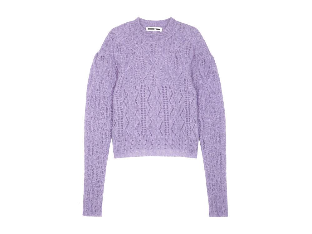 Lilac open-knit mohair blend jumper by McQ Alexander McQueen