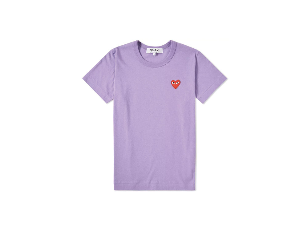 Comme Des Garcons Play Women's Colour Series Logo Tee in Purple