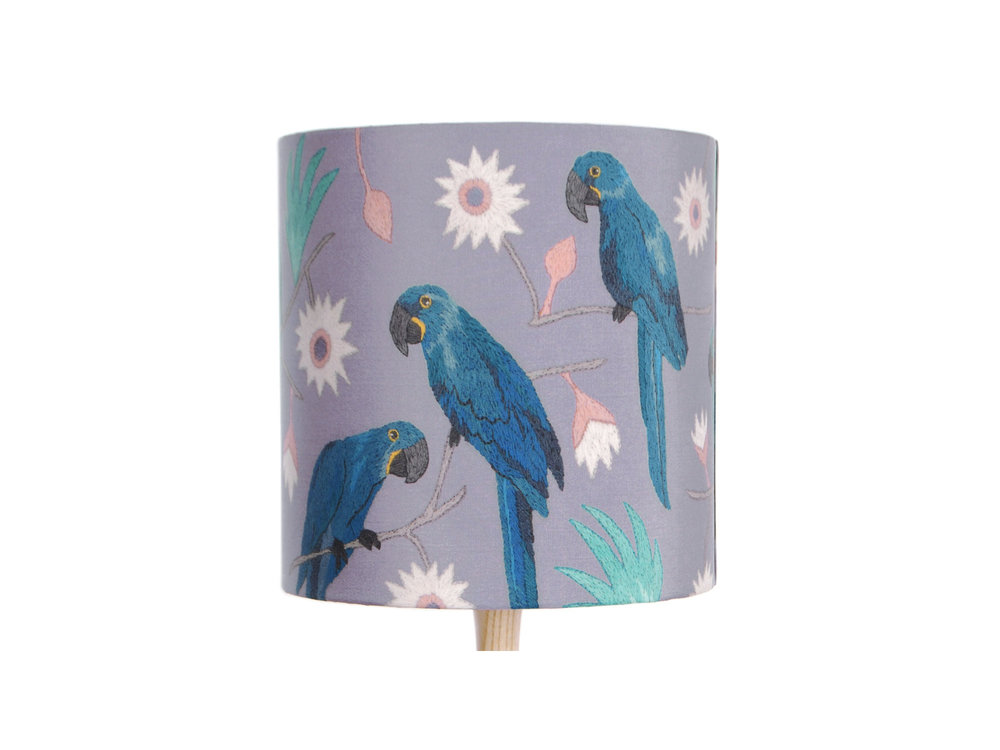 Macaws Lampshade by Katie & The Wolf