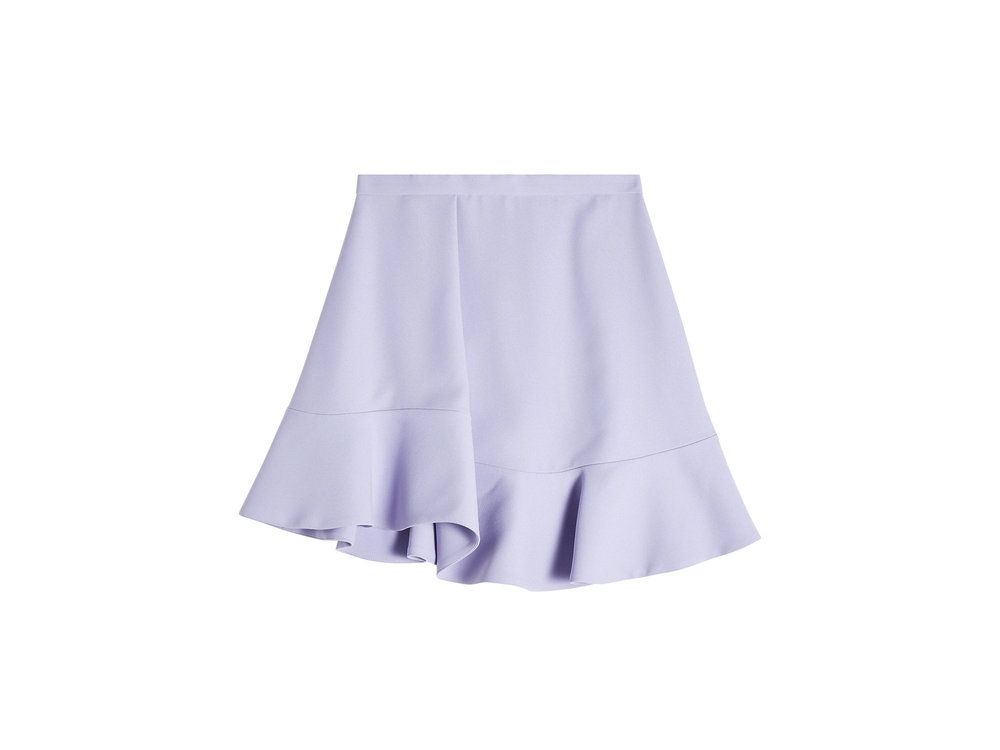 Flutter Hem Mini Skirt by Carven