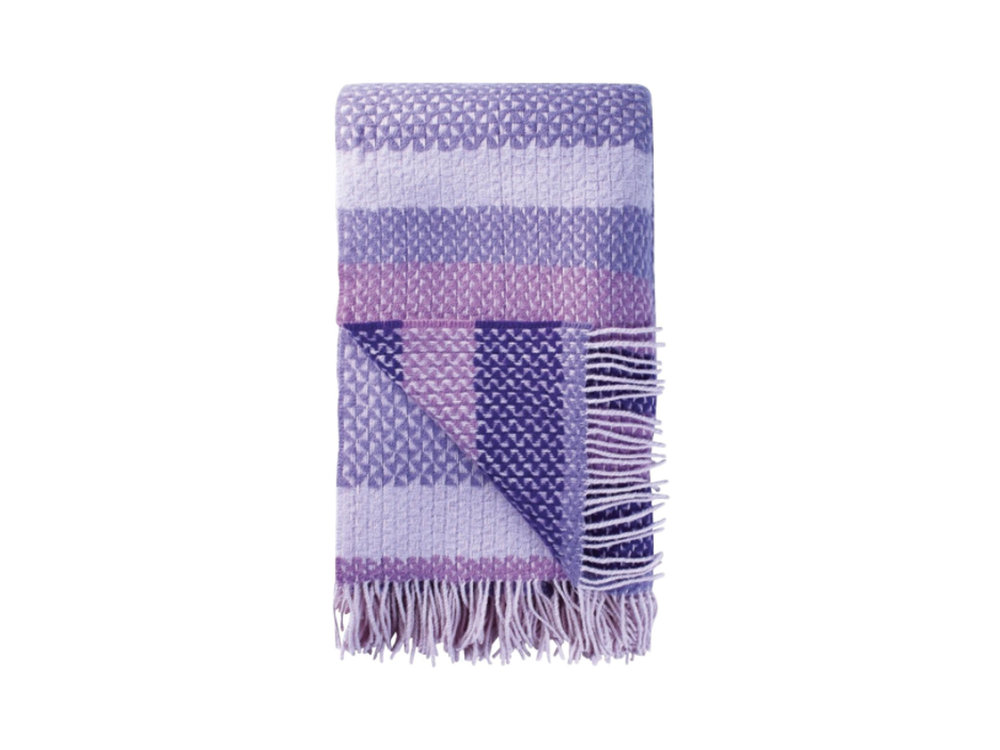 Fortrose Violet Throw by Designers Guild