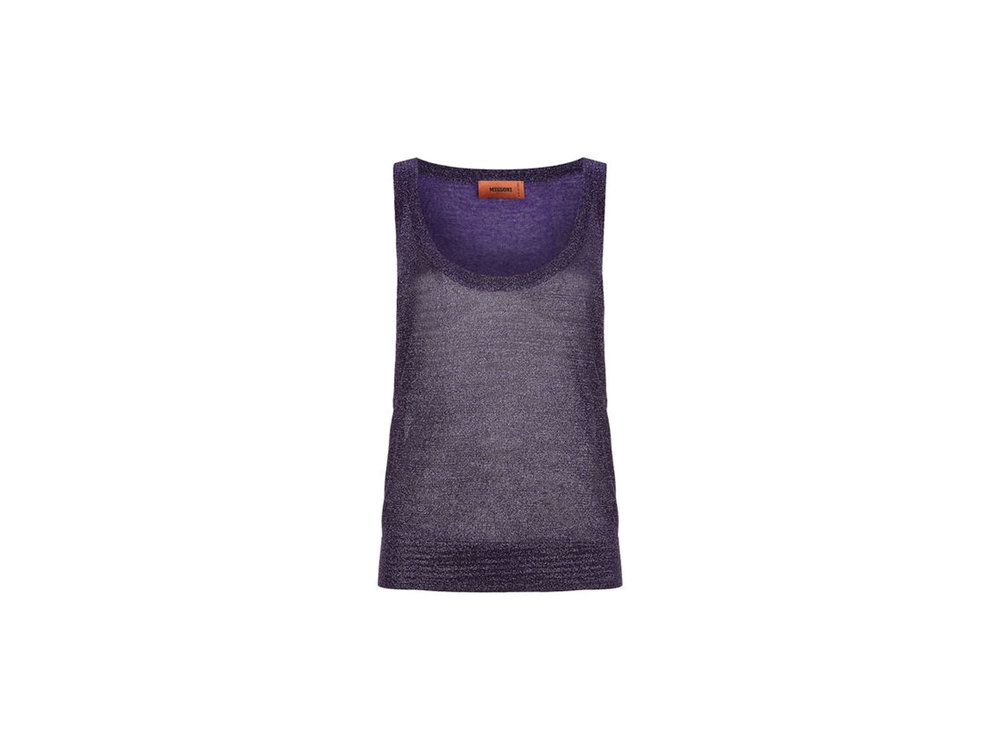 Purple Lurex Tank Top by Missoni