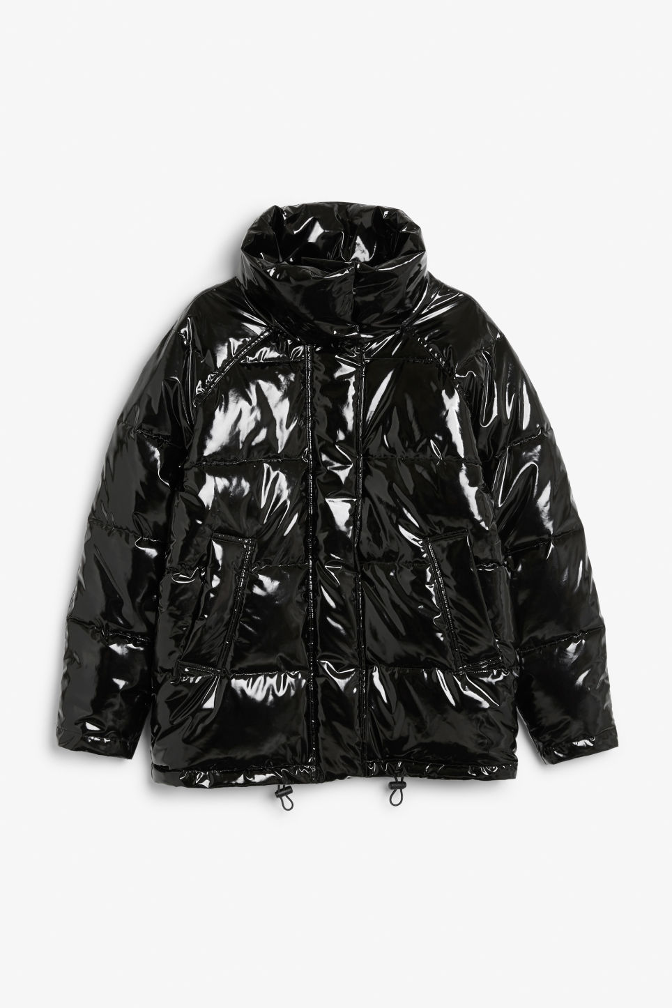 Puffer Jacket in Black Magic from MONKI, £30 (was £66)