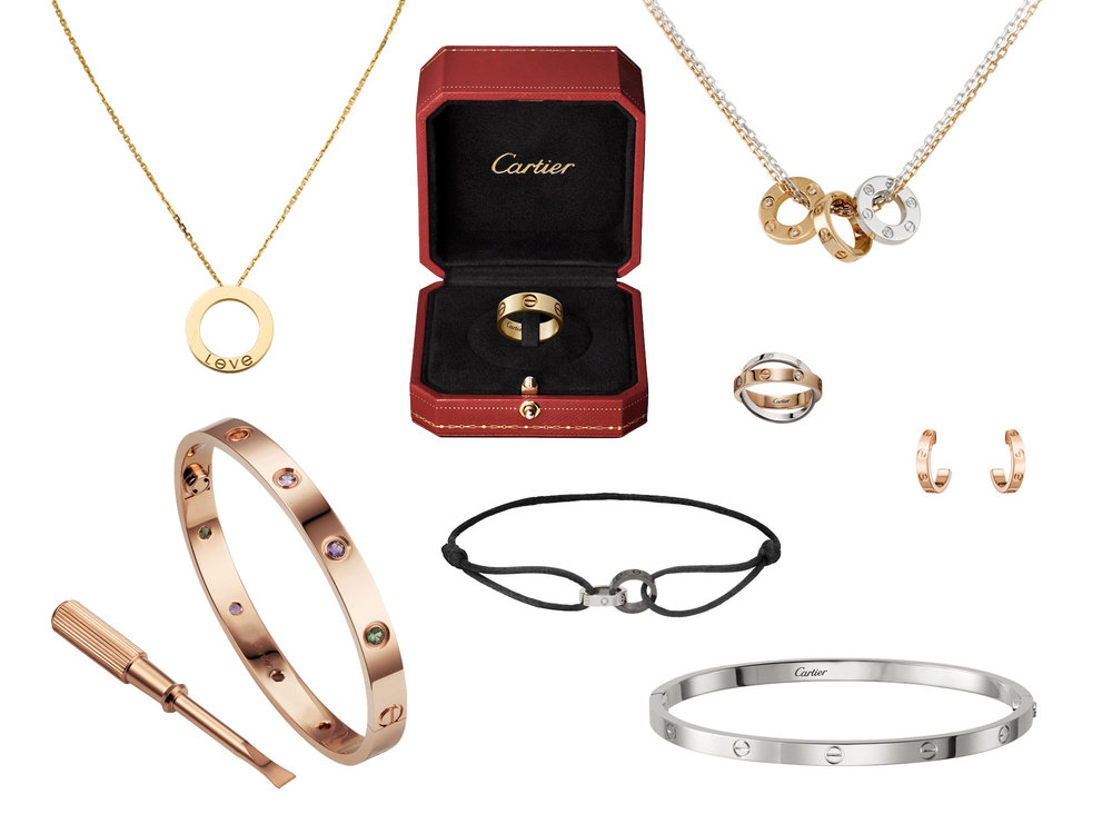 Cartier LOVE collection, available at Harrods.com