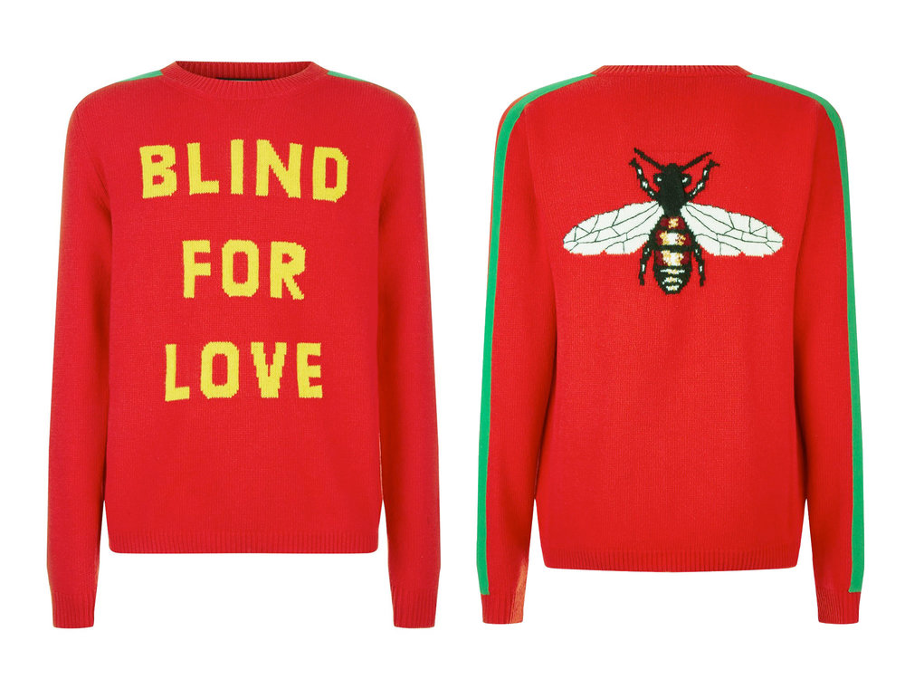 Gucci Blind For Love Wool Sweater, £870 from Harrods.com