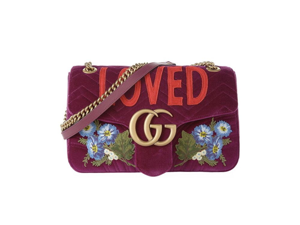 Gucci Medium Velvet Marmont Shoulder Bag, £1790 from Harrods.com