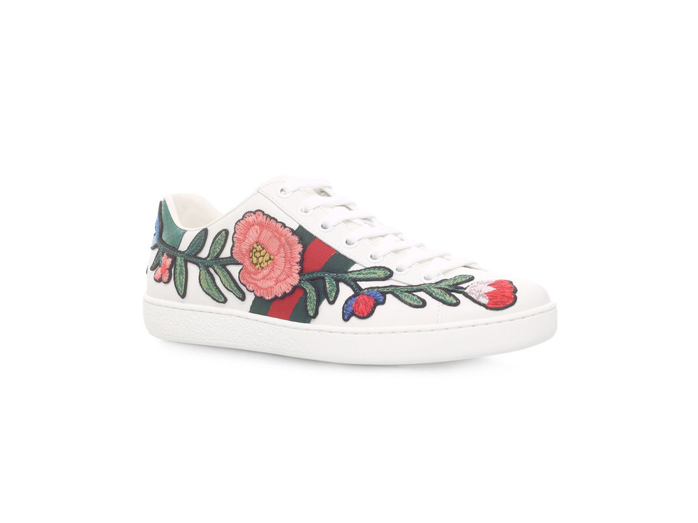 Gucci Ace Flower Sneakers, £540 from Harrods.com