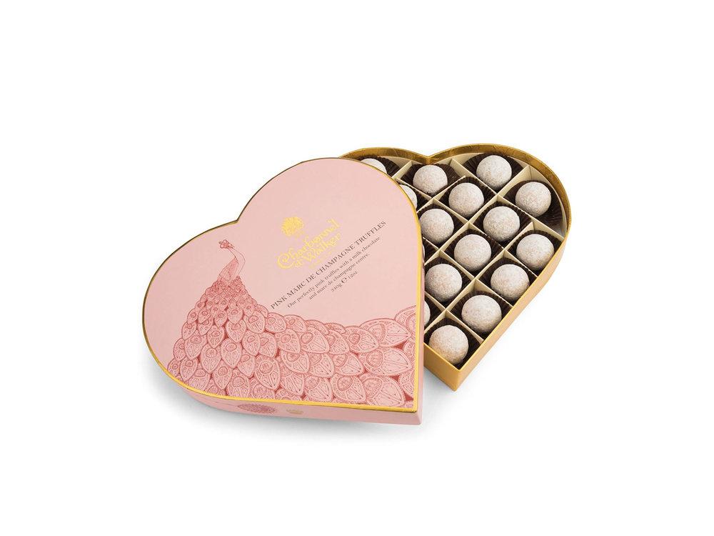 Pink Marc de Champagne Truffles by Charbonnel et Walker, £30 from Harrods.com